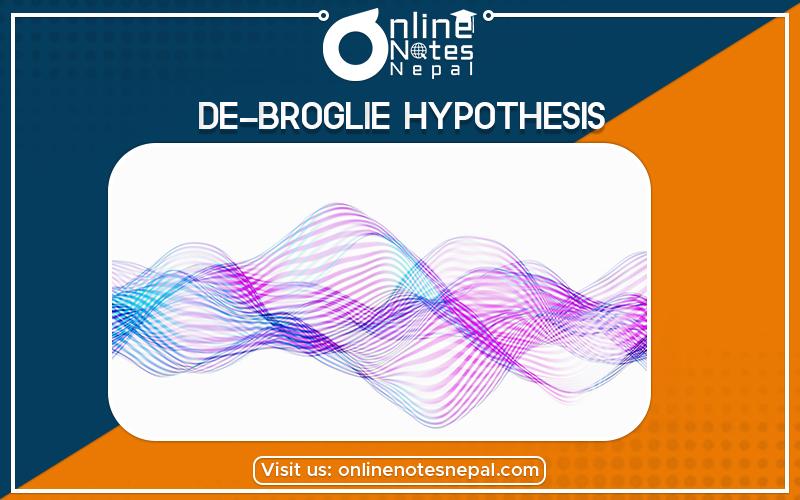 De-Broglie Hypothesis in Grade 12 Physics